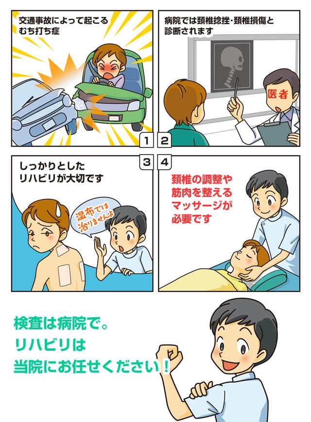 交通事故治療マンガ